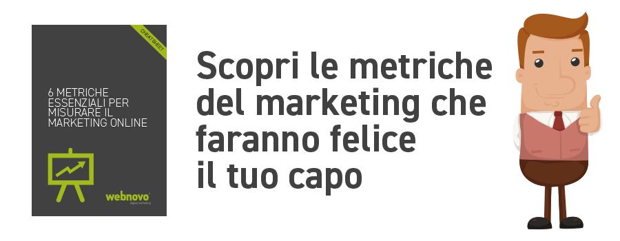 calcolo delle metriche di marketing