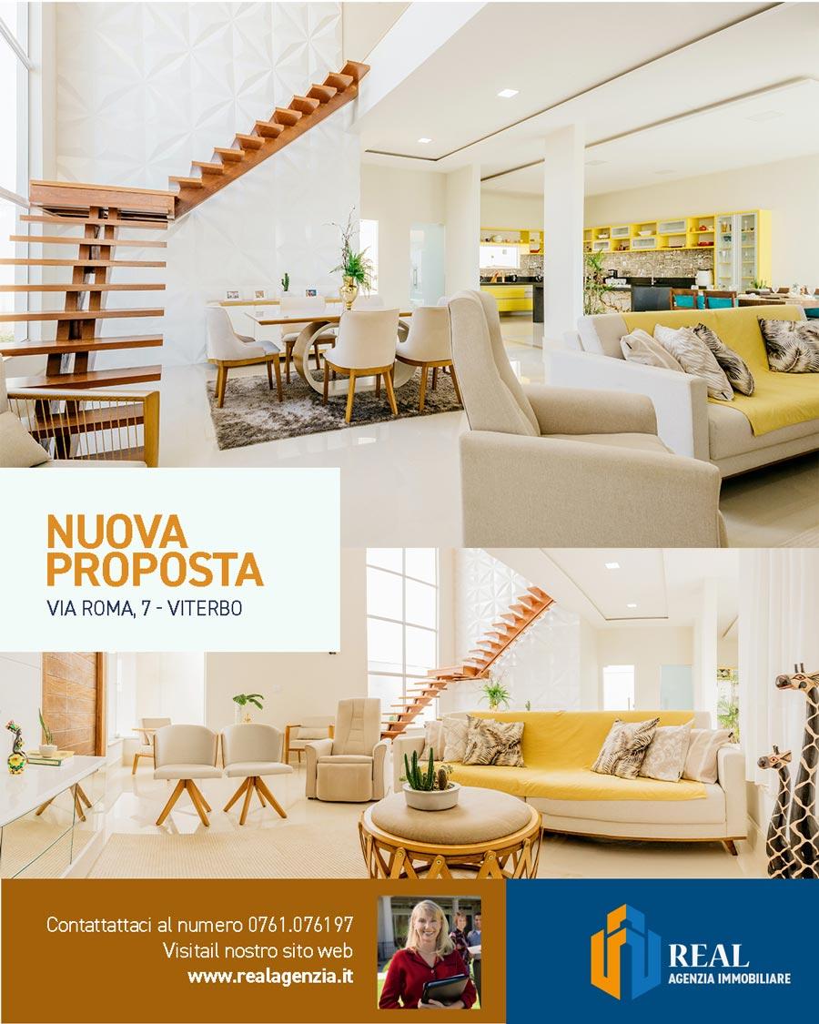 Esempio di post Instagram On-Brand, marketing immobiliare e promozione di un immobile in vendita.